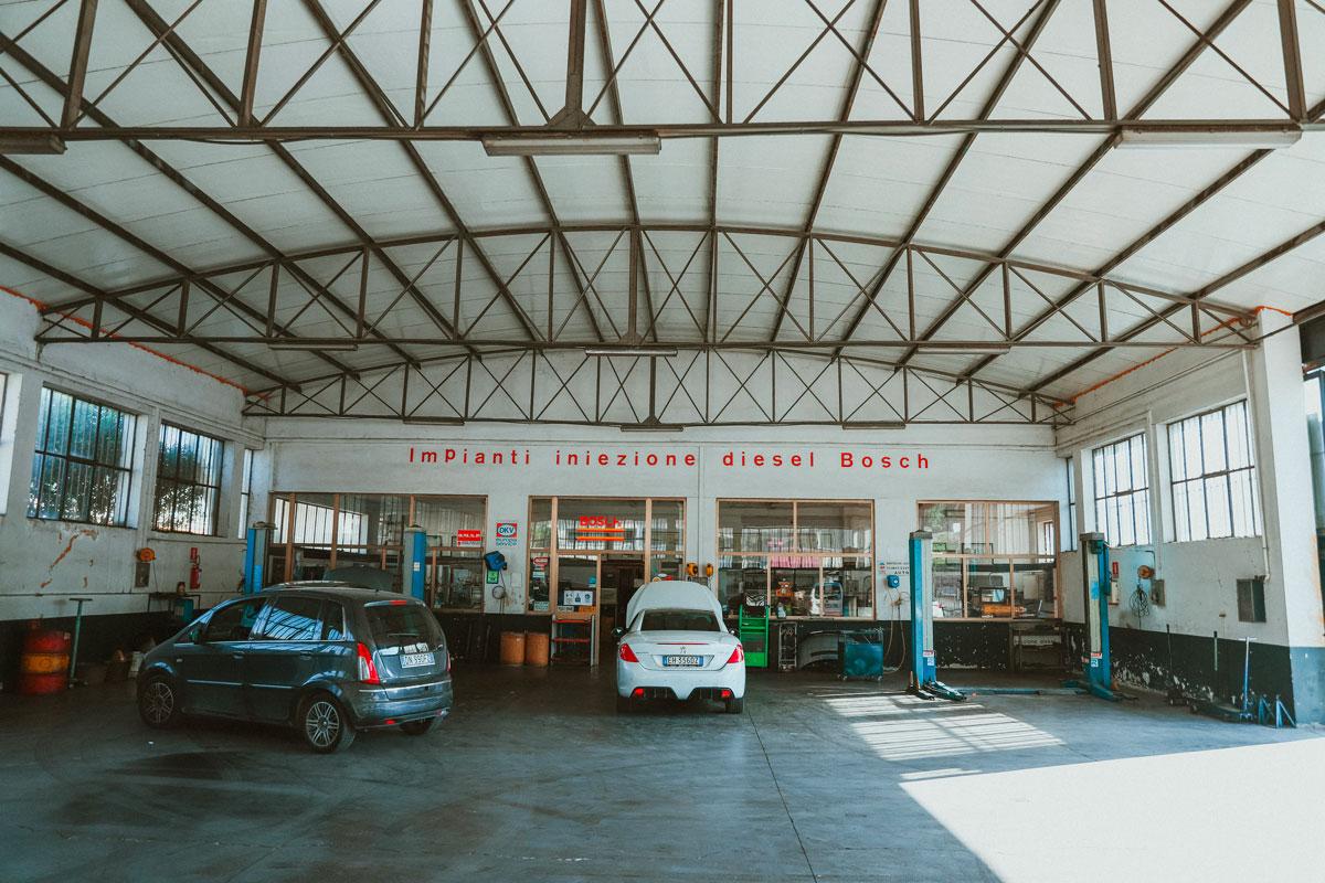 Salone officina rongri impiani iniezione diesel bosch